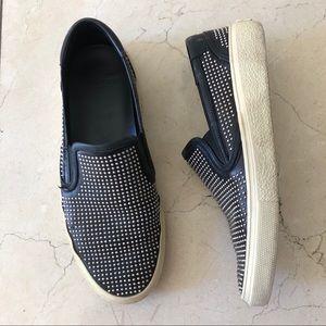 Saint Laurent studded slip on sneakers